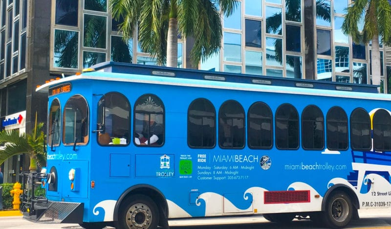TROLLEY – Transporte Gratuito – Miami Beach